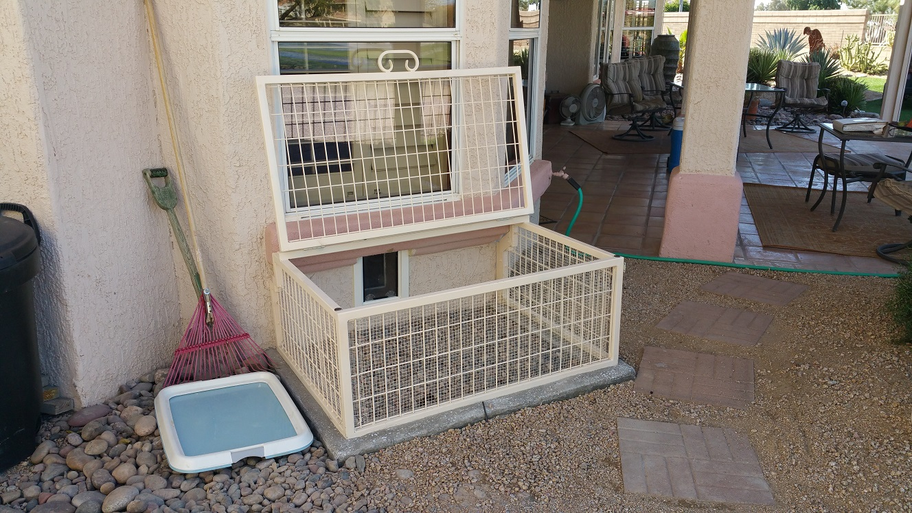 AZ Predator Proof Dog Kennels keep snakes out.