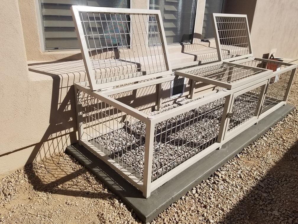 Outdoor kennels Installed