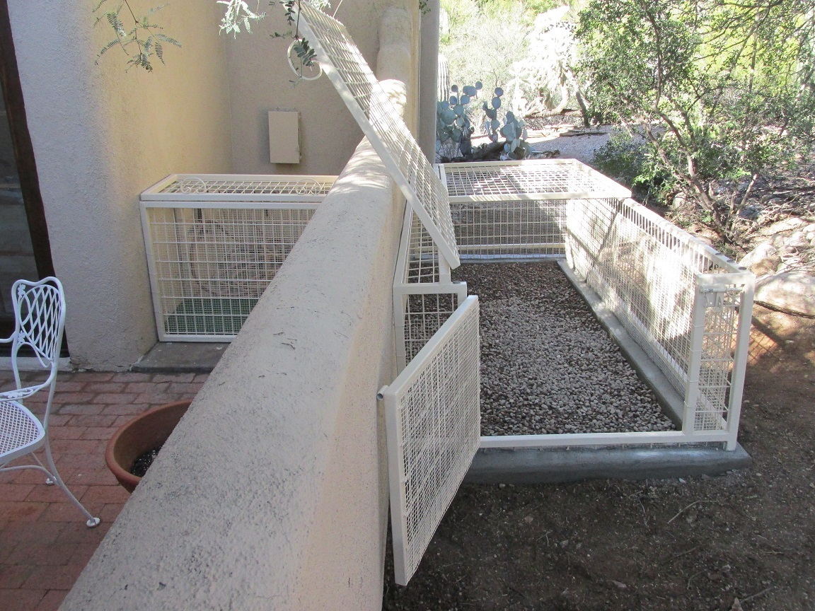 Kennels that keep pets safe.