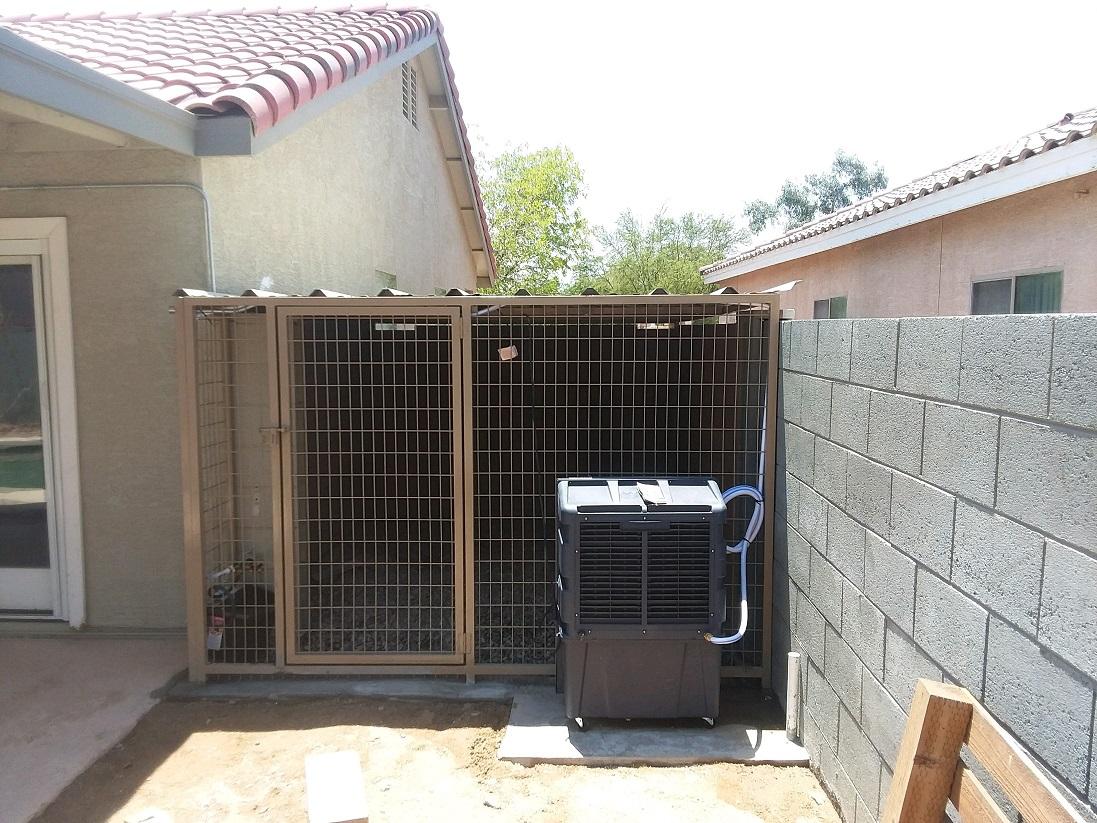 AZ Evaperative Cooler kennels Installed.