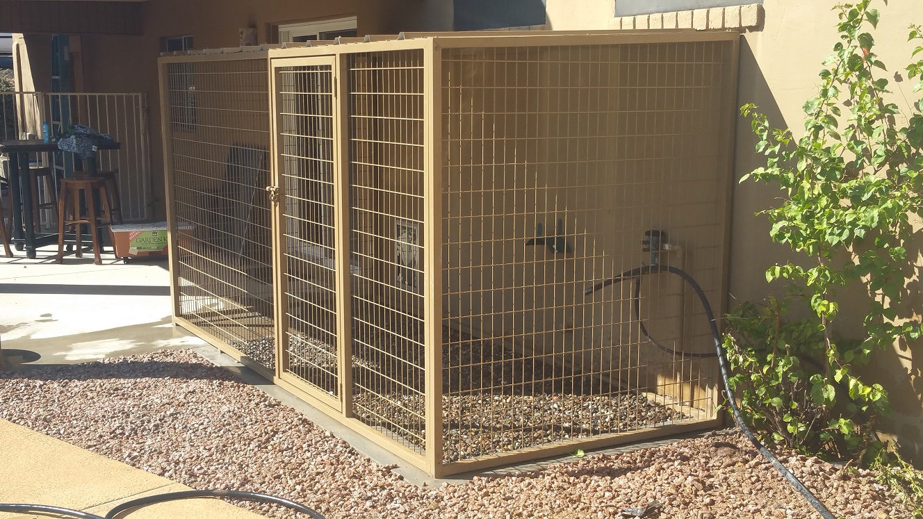 Coyote Proof Dog Kennels.