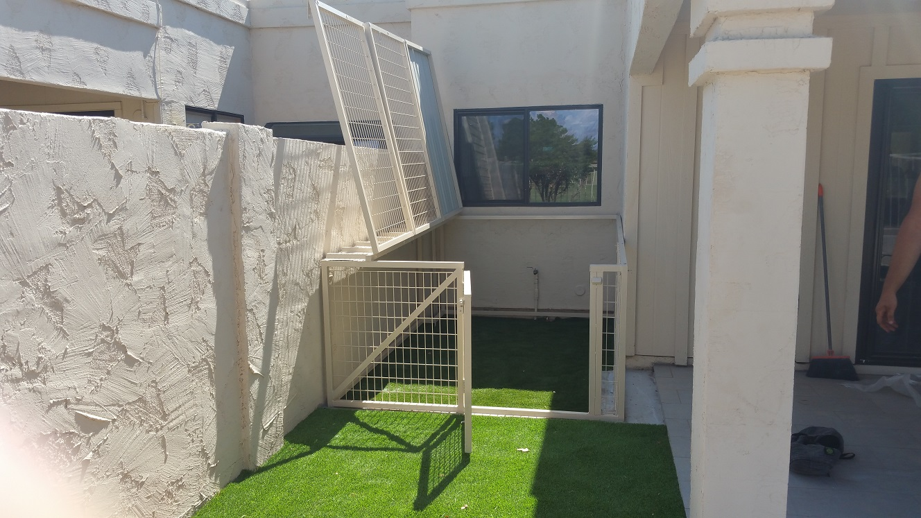 Kennels with Grass Floors