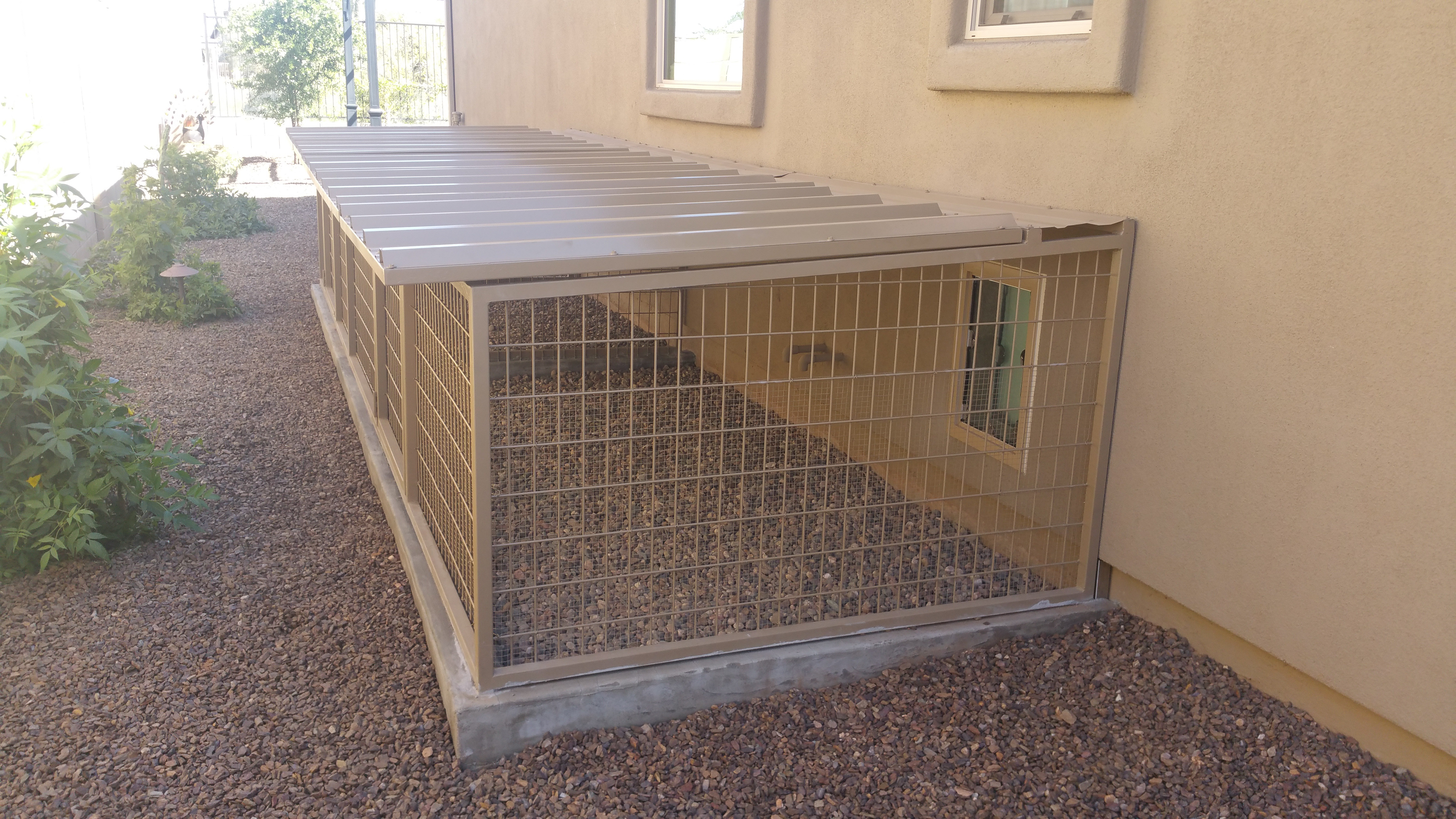 Predator Proof Dog Kennels In CA.
